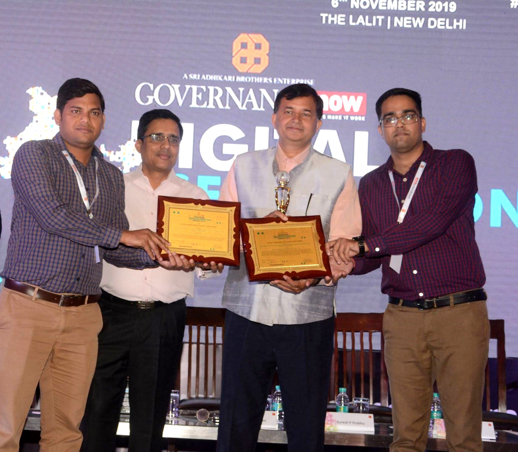Online Works Management System (OWMS) and Computer Proficiency Certification Test (CPCT) won the Digital Transformation Award under Rural Development and Skill Development category respectively.